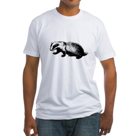 Honey Badger Doesn't Care Fitted T-Shirt