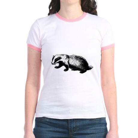 Honey Badger Doesn't Care Jr Ringer T-Shirt