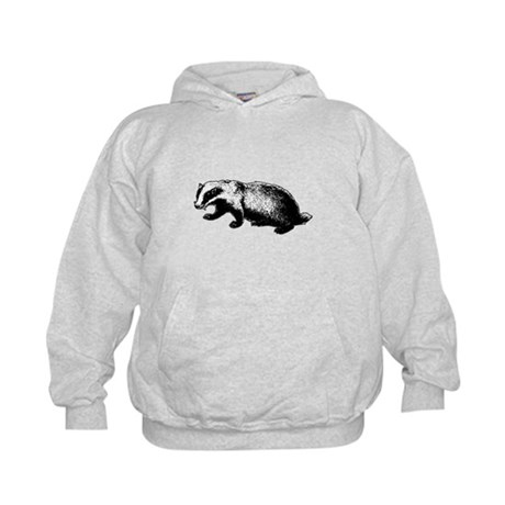 Honey Badger Doesn't Care Kids Hoodie