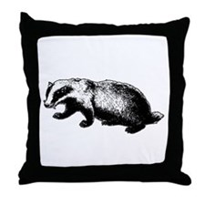 Honey Badger Doesn't Care Throw Pillow