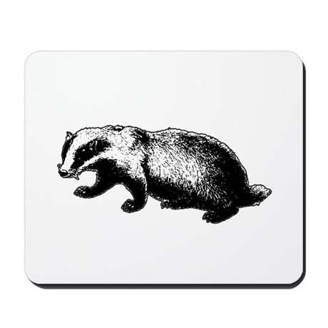 Honey Badger Doesn't Care Mousepad
