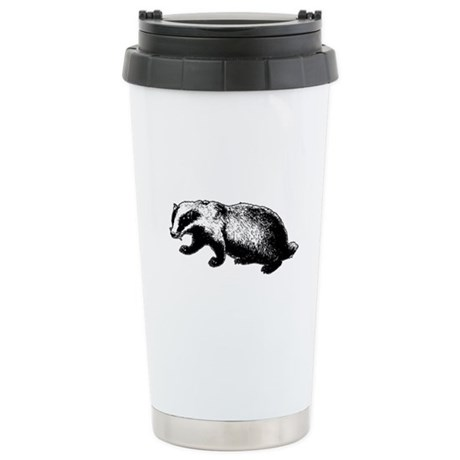 Honey Badger Doesn't Care Ceramic Travel Mug