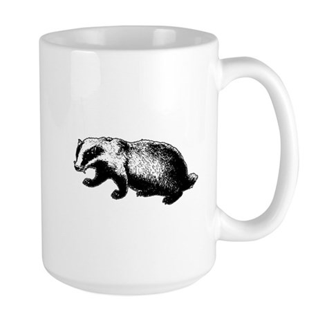Honey Badger Doesn't Care Large Mug