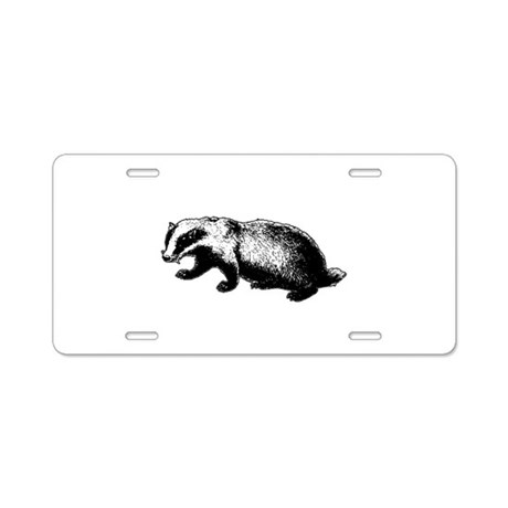 Honey Badger Doesn't Care Aluminum License Plate