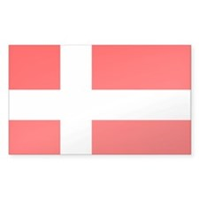 Flag of Denmark Rectangle Decal