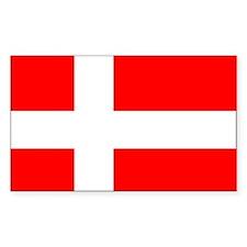 Flag of Denmark Rectangle Decal