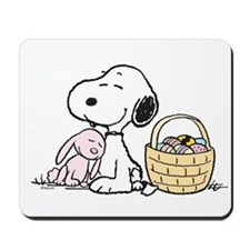 Beagle and Bunny Mousepad