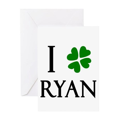 """I Heart/Luck Ryan"" Greeting Card"
