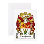 Abrahmsen Coat of Arms Greeting Cards (Package of