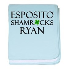 """Esposito Shamrocks Ryan"" baby blanket"