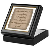 Pascal Quote Keepsake Box