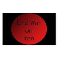 End War on Iran Rectangle Decal