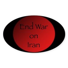 End War on Iran Oval Decal