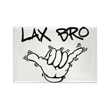 Hang Loose Lax Bro Rectangle Magnet (100 pack)