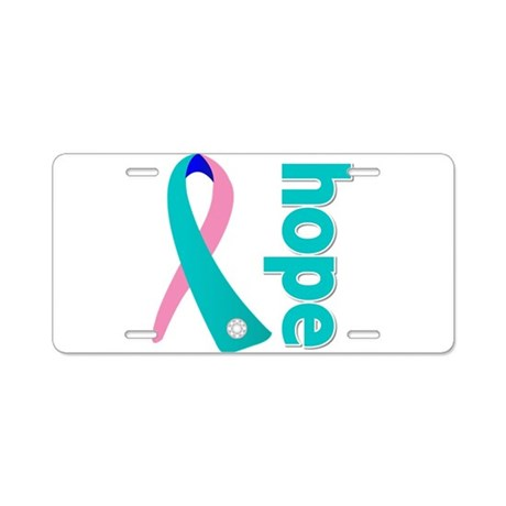 Hope Thyroid Cancer Aluminum License Plate