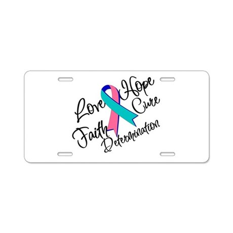 Thyroid Cancer Love Hope Aluminum License Plate