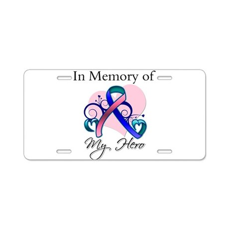In Memory Thyroid Cancer Aluminum License Plate