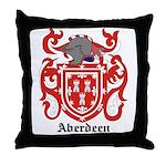 Aberdeen Coat of Arms Throw Pillow