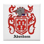 Aberdeen Coat of Arms Tile Coaster
