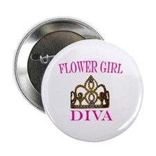 OFFICIAL FLOWER GIRL DIVA Button