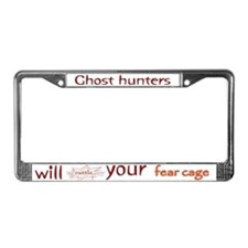 Ghost Hunters Rattle Fear Cages License Plate Fram
