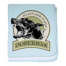 Doberman baby blanket