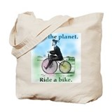 Save the Planet Ride a Bike Tote Bag