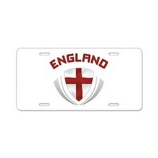 Soccer Crest ENGLAND red Aluminum License Plate