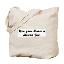 Loves Kuwait Girl Tote Bag