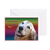 Golden Retriever Note Cards Heart (Pk of 10)