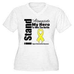 Endometriosis Stand Hero Women's Plus Size V-Neck