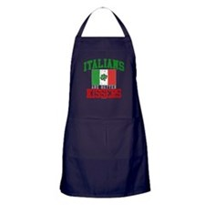 Italians Are Better Kissers Apron (dark)