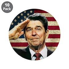 "Reagan Salute... 3.5"" Button (10 pack)"
