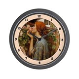 Unique Pre raphaelites Wall Clock