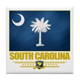 South Carolina Pride Tile Coaster