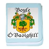Boyle in Irish/English baby blanket