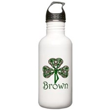 Brown Shamrock Water Bottle