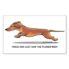 Dachshund Dad Funny Decal