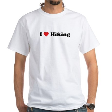 I Love Hiking White T-Shirt