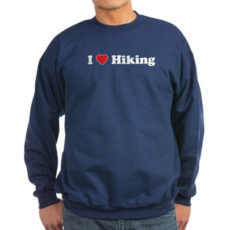 I Love Hiking Sweatshirt (dark)
