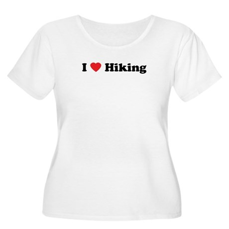 I Love Hiking Women's Plus Size Scoop Neck T-Shirt