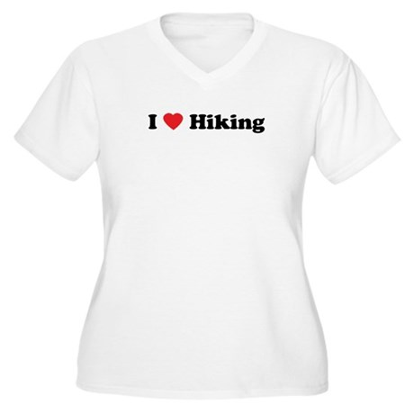I Love Hiking Women's Plus Size V-Neck T-Shirt