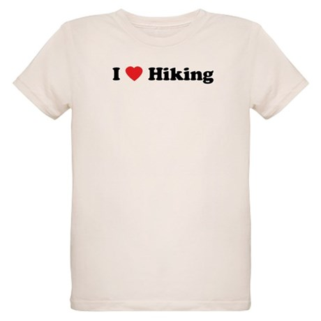 I Love Hiking Organic Kids T-Shirt