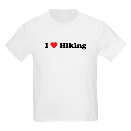 I Love Hiking Kids Light T-Shirt