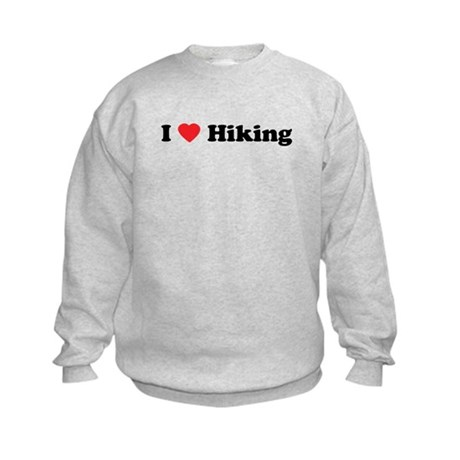 I Love Hiking Kids Sweatshirt