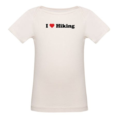 I Love Hiking Organic Baby T-Shirt
