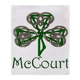 McCourt Shamrock Throw Blanket