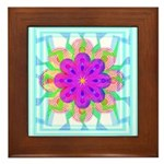 Flowers Framed Tile