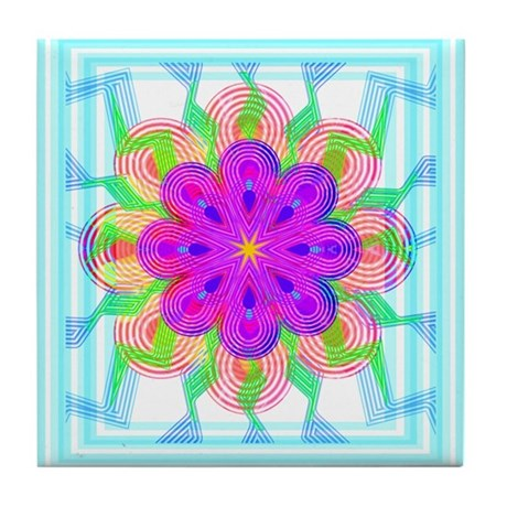 Flowers Tile Coaster