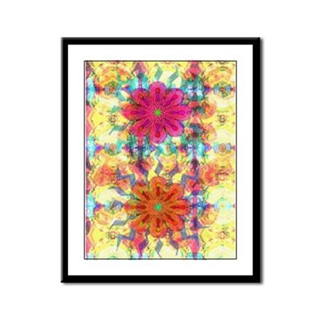 Flowers Framed Panel Print